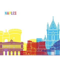 Naples skyline pop vector