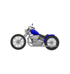 Old-school motorcycle with big wheels vintage vector