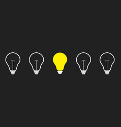 on off light bulb icon set line business idea vector image