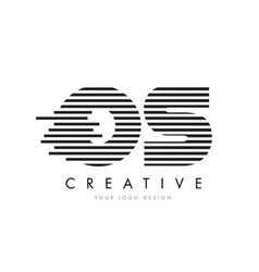 Os o s zebra letter logo design with black and vector