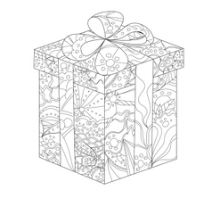 painted gift vector image