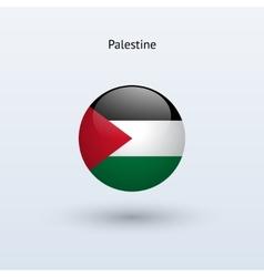 Palestine round flag vector