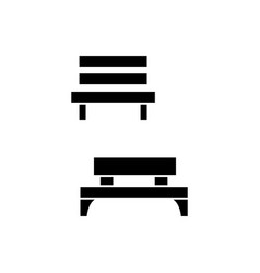 park bench black icon concept park bench vector image
