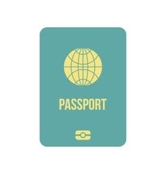 Passport icon flat vector