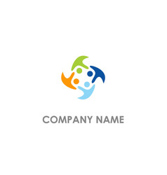 people group diversity colored logo vector image