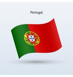 Portugal flag waving form vector