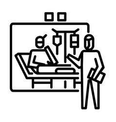 Quarantine icon symbol activity or to deal vector