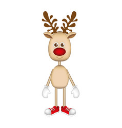 Reindeer standing with gloves and shoes vector
