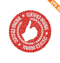 Rubber stamp certified - - EPS10 vector image