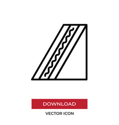 sandwich icon in modern style for web site and vector image