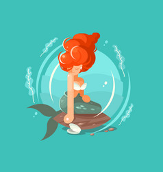 sea mermaid character vector image