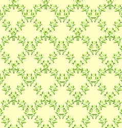 Seamless floral pattern green leaves vector image