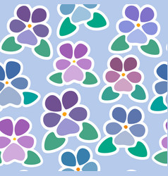 Seamless pattern with violets without background vector