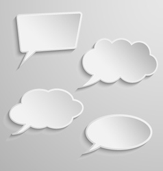 set four thought bubbles vector image