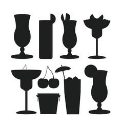 Set of bar drinks vector