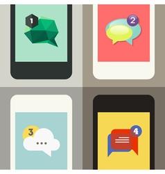 Set of color speech bubbles vector image