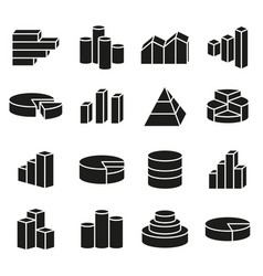 set of financial icons line style vector image