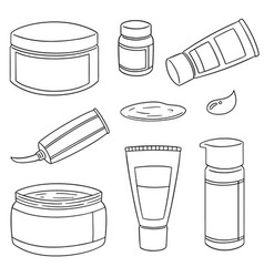 set of topical cosmetic and topical medicine vector image