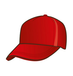 silhouette color with baseball cap vector image