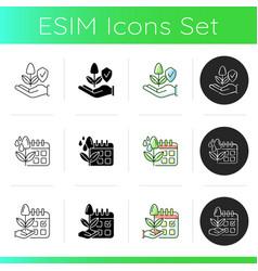 Smart farming icons set vector
