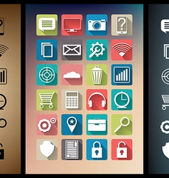 Smartphone app icon set vector image