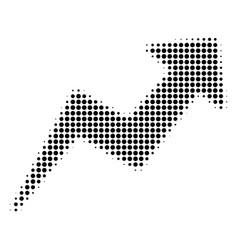 trend halftone icon vector image