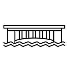 urban bridge icon outline style vector image