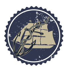 vintage anchor typography vector image