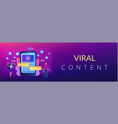 Viral content concept banner header vector