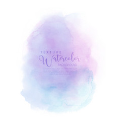 Watercolor hand painted abstract with pink-blue vector