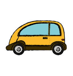 Yellow car vehicle transport vector