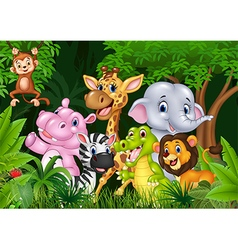 Cute animal africa in the jungle vector image vector image