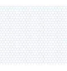 Cyan hexagon grid seamless pattern vector image