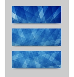 geometric set banner brochure template vector image