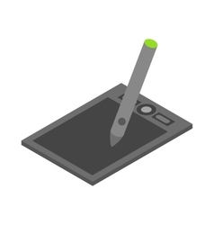 Graphics tablet icon cartoon style vector image