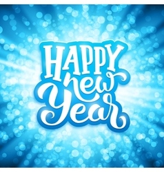 Happy New Year typography on festive background vector image vector image