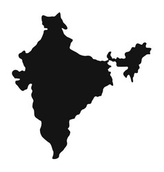 Indian map icon simple style vector