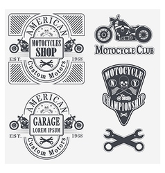 motocycles vector image vector image