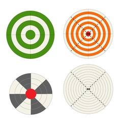 Target collection vector image vector image