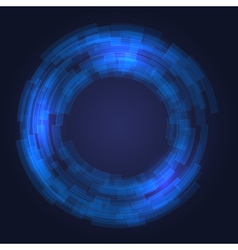 Abstract Technology Blue Circles Background vector image