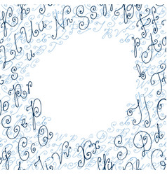 hand drawn circle background or frame vector image vector image