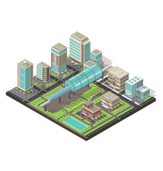 isometric cityscape concept vector image vector image