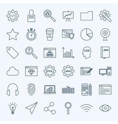Line Web Development Icons vector image vector image
