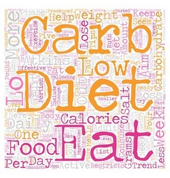 Lo Carb Diets Can Assist You Rapid Weight Loss vector image vector image