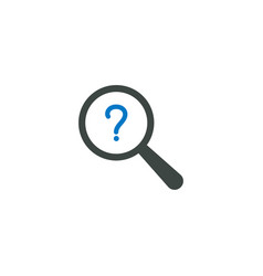 magnifying glass icon question icon vector image