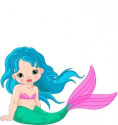 mermaid baby girl vector image vector image