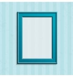 Modern blue photo frame vector image vector image