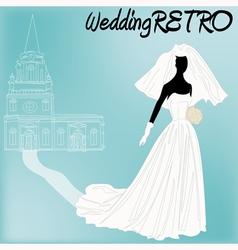 Retro Wedding vector image vector image