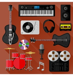 Set of music and sound objects vector image
