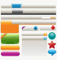 website design materials vector image vector image